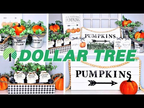 DOLLAR TREE FARMHOUSE FALL DIYS   6 EASY PROJECTS