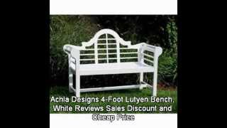 Achla Designs 4-foot Lutyen Bench, White Reviews Sales Discount And Cheap Price