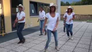 Tush Push - country line dance - Travis Tritt - T-R-O-U-B-L-E