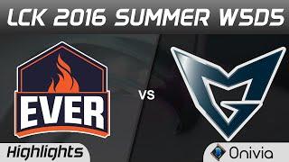 ESC vs SSG Highlights Game 3 LCK Champions W5D5 2016 ESC Ever vs Samsung