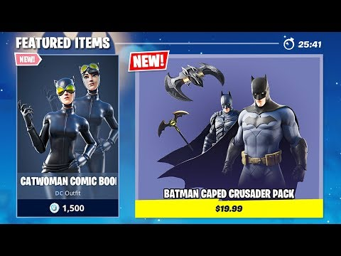 New BATMAN And CATWOMAN Skins!! (Fortnite Battle Royale)