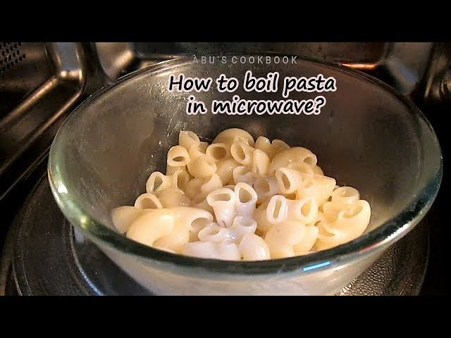 how to boil pasta in microwave cook