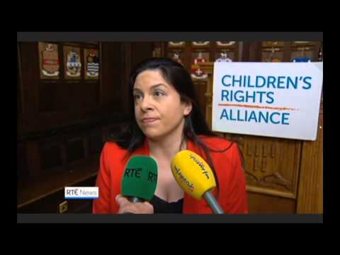 Children's Rights Alliance on RTE News for launch of Are We There Yet?