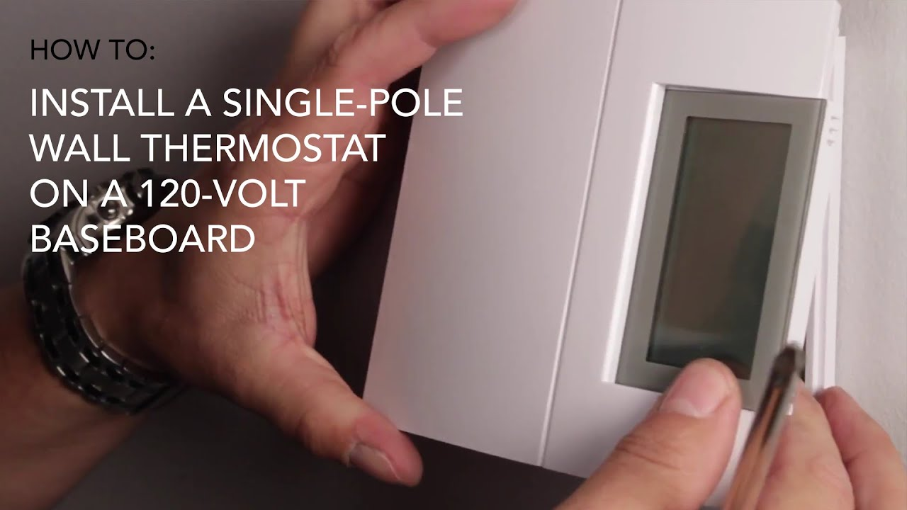 How To Install Wall Thermostat Single Pole On 120v Baseboard Cadet Heat Youtube