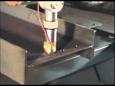 Plasma Cutting Bolt Holes In Structural Steel Beams Youtube