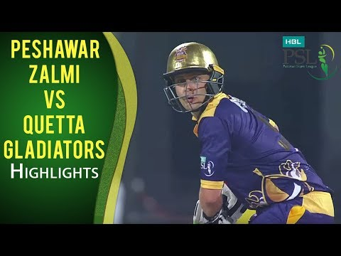 PSL 2017 Play-off 1: Peshawar Zalmi vs. Quetta Gladiators Hi