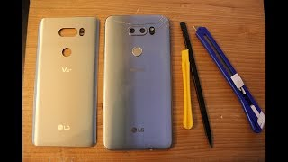 LG V30 & V35 :  How to replace BACK GLASS cover AND CAMERA GLASS