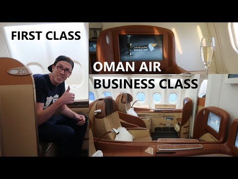Oman Air First Class and Business Class on a330 - Manila to Dubai via Muscat