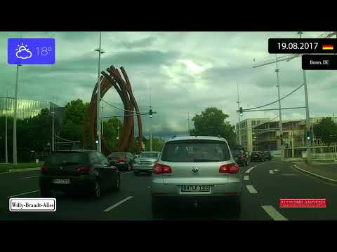 Driving through Bonn (Germany) from Duisdorf to Friesdorf 19.08.2017 Timelapse x4