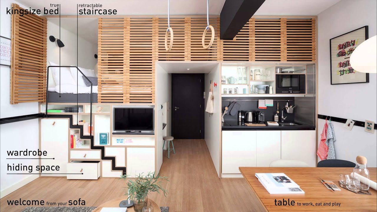 Micro Living Apartment How To Create More Space In Less M2 Zoku 39s Spacious