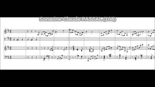 Sonatine for Alto Saxophone and Piano – Play Along (Tempo 108 W/click) – Claude PASCAL