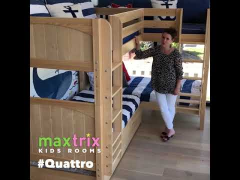 Quattro By Maxtrix Kids Corner Bunk Beds For Four Youtube