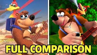 Banjo-Kazooie Full Moveset Comparison (N64 Vs. Switch) - Super Smash Bros. Ultimate
