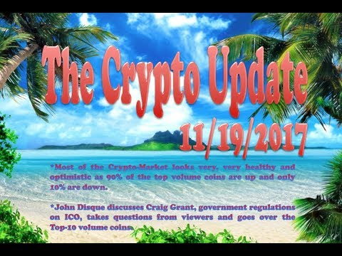 The Crypto Update 11:18:17 / 90% of the top coins in the green