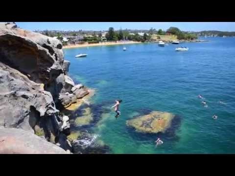 Cliff jumping - sydney, camp cove