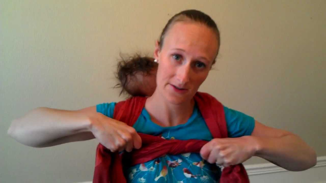 Baby Back Carry With Woven Wrap Youtube