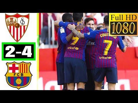 Sevilla 2 - 4 Barcelona-La Liga-23 februari 2019