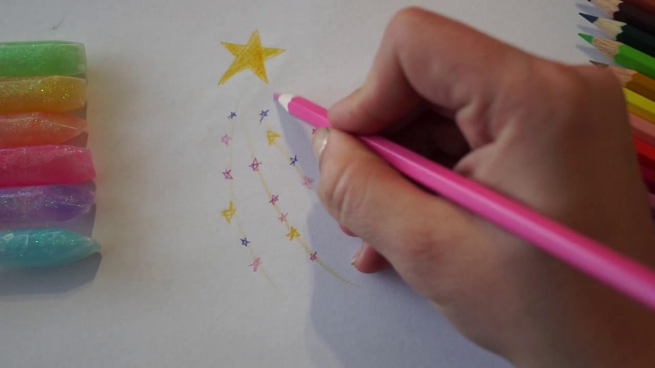 Stern zeichnen - Sternschnuppe malen - how to draw a star ...