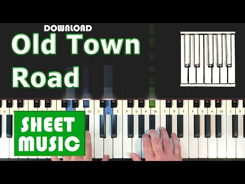 Old Town Road Piano sheet music by Lil Nas X ft. Billy Ray Cyrus in PDF