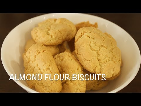 Almond Flour Biscuits | Low Carb Gluten free Biscuits | Healthy Almond Biscuits