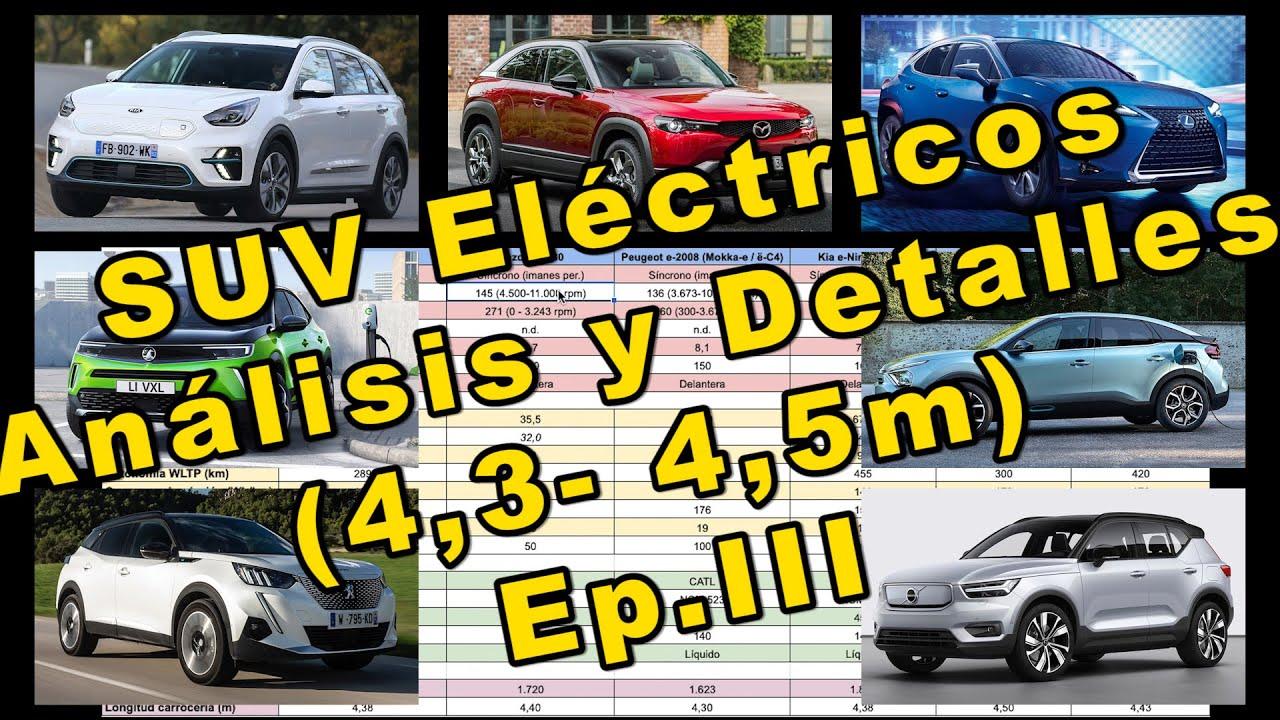 Análisis y Detalles de Todos los SUV Eléctricos de entre 4,30 y 4,50 m. Episodio III