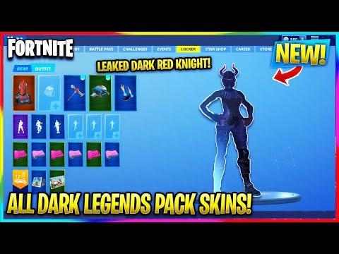 Fortnite New Dark Legends Pack All Skins Leaked
