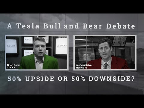 These two analysts couldn't disagree more on the direction of Tesla's (TSLA) stock price.