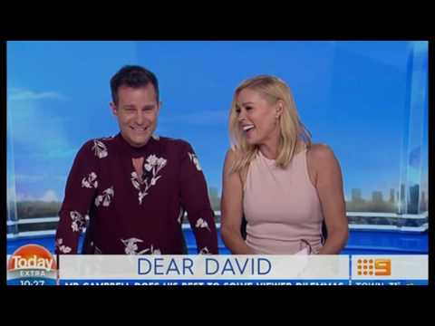 David Campbell and Sonia Kruger make light-hearted fun of Lisa Wilkinson