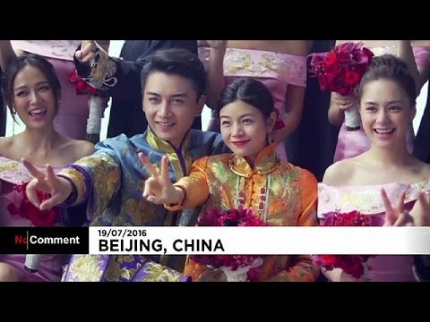 China: Michelle Chen and Chan Xiao get married in Beijing