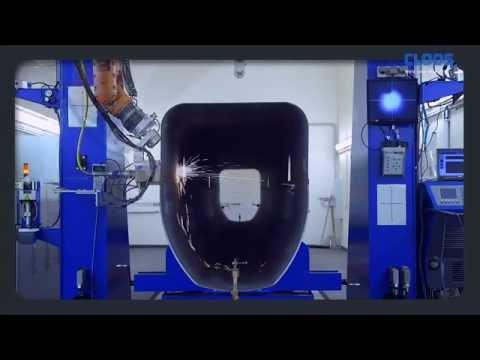 Система лазерно-гибридной сварки фирмы CLOOS (Германия) для сварки телескопических стрел автокранов