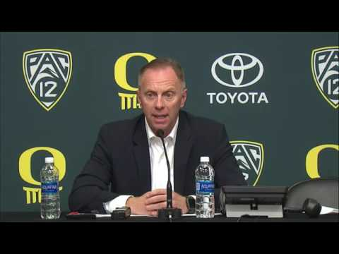 Rob Mullens Press Conference After Firing Mark Helfrich 11-29-16