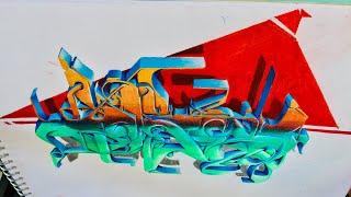 Graffiti Sketch wild style en 3D/boceto graffiti estilo salvaje 3d vol.3 2019