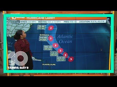 National Hurricane Center: Larry 'larger and little stronger'
