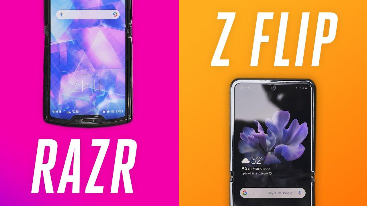 Galaxy Z Flip vs. Motorola Razr: no contest - The Verge