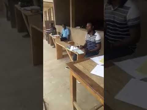 This is Electoral commission of Ghana personnel cheating...Voting multiple times referendum 2018