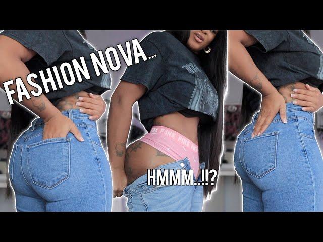 FASHION NOVA JEAN TRY ON HAUL | Jeans for curvy women | VLOGMAS | Tianna Squarrel