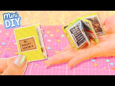 ¡MINI ALBUM DE FOTOS! Haz un Scrapbook Miniatura - DIY Regalos ✄ Craftingeek