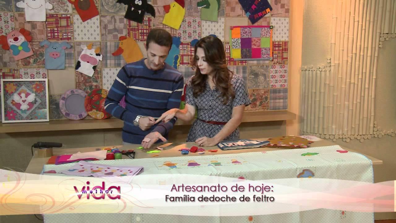 Aparador Romanel ~ Vida Melhor Artesanato Marcelo Darghan ensina a fazer Dedoche de feltro YouTube
