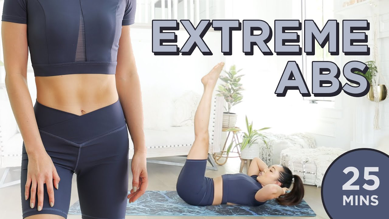 Download Extreme Abs Workout   25 Min At Home Upper Abs, Lower Abs, Obliques & Total Core Pilates Routine
