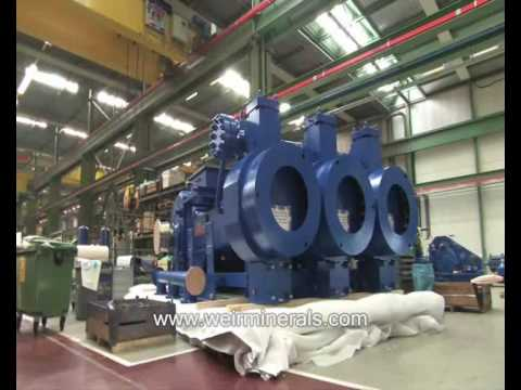 Weir Minerals - hydrocyclones, valves, wear resistant linings for mining and mineral processing.