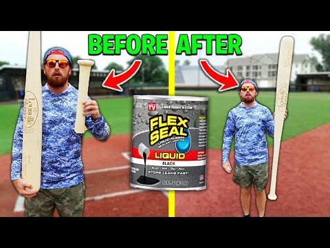 Can Flex Seal Fix The Worlds BIGGEST MLB Baseball Bat? IRL Baseball Challenge
