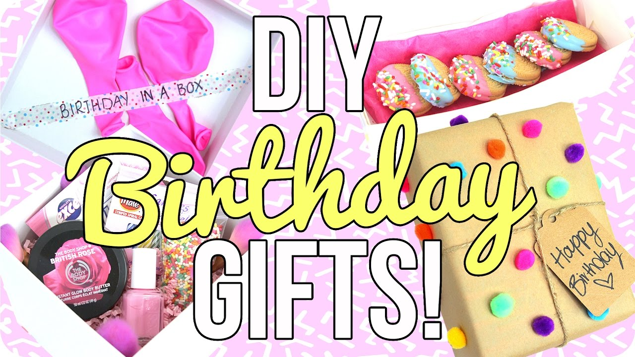 DIY Birthday Gifts Easy Cheap