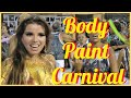 BODY PAINT CARNIVAL 2017: GOLDEN COLOR PAINTING ON GORGEOUS DIVA AT RIO: MICHELE
