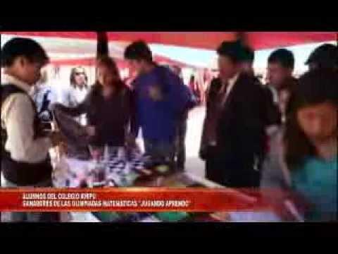 ALUMNOS DEL COLEGIO KHIPU GANADORES DE LAS OLIMPIADAS MATEMATICAS JUGANDO APRENDO WEB