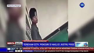 Terekam CCTV, Pencuri Di Masjid Justru Berpose