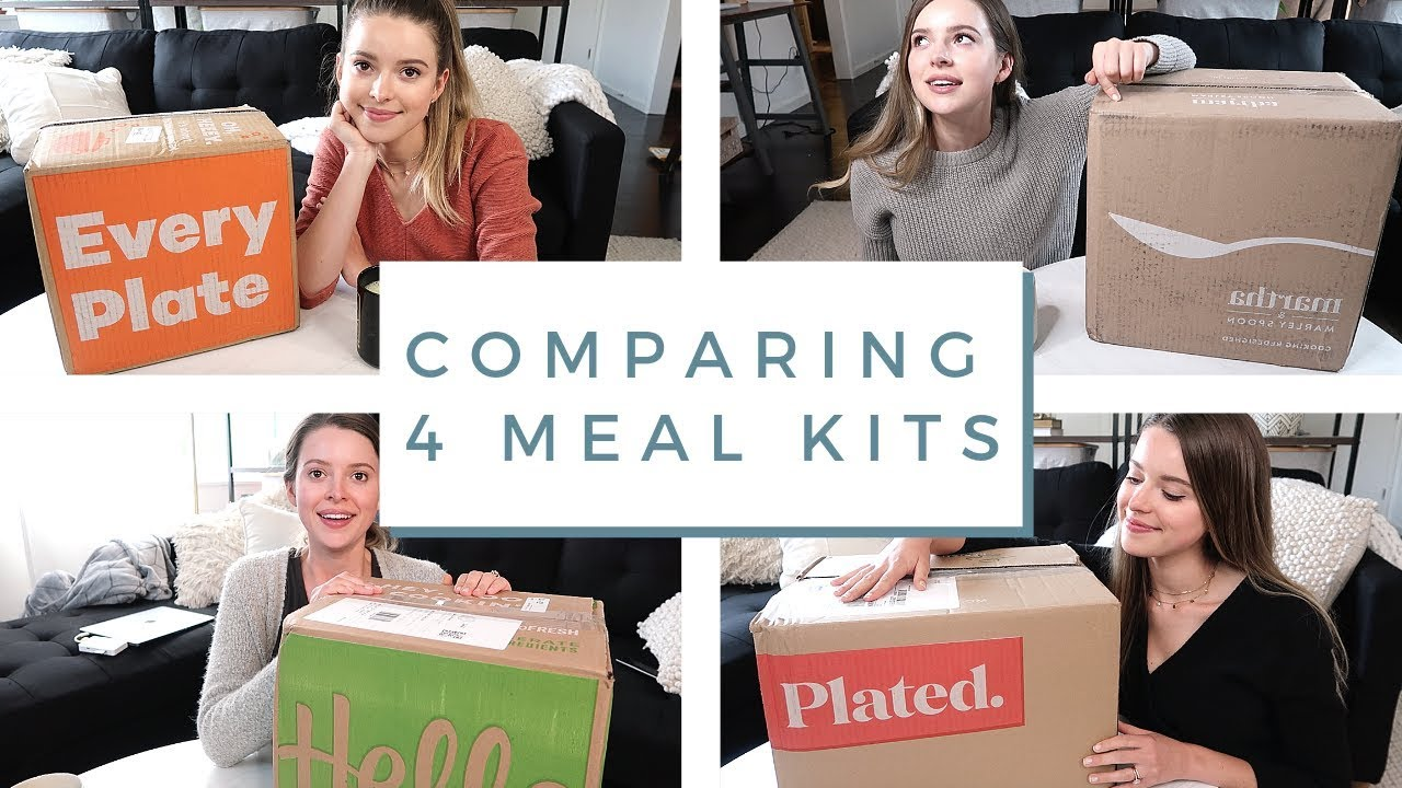 Comparing \u0026 Reviewing 4 Popular Meal Kit Boxes!