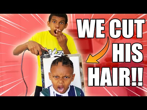 WE CUT HIS HAIR!!