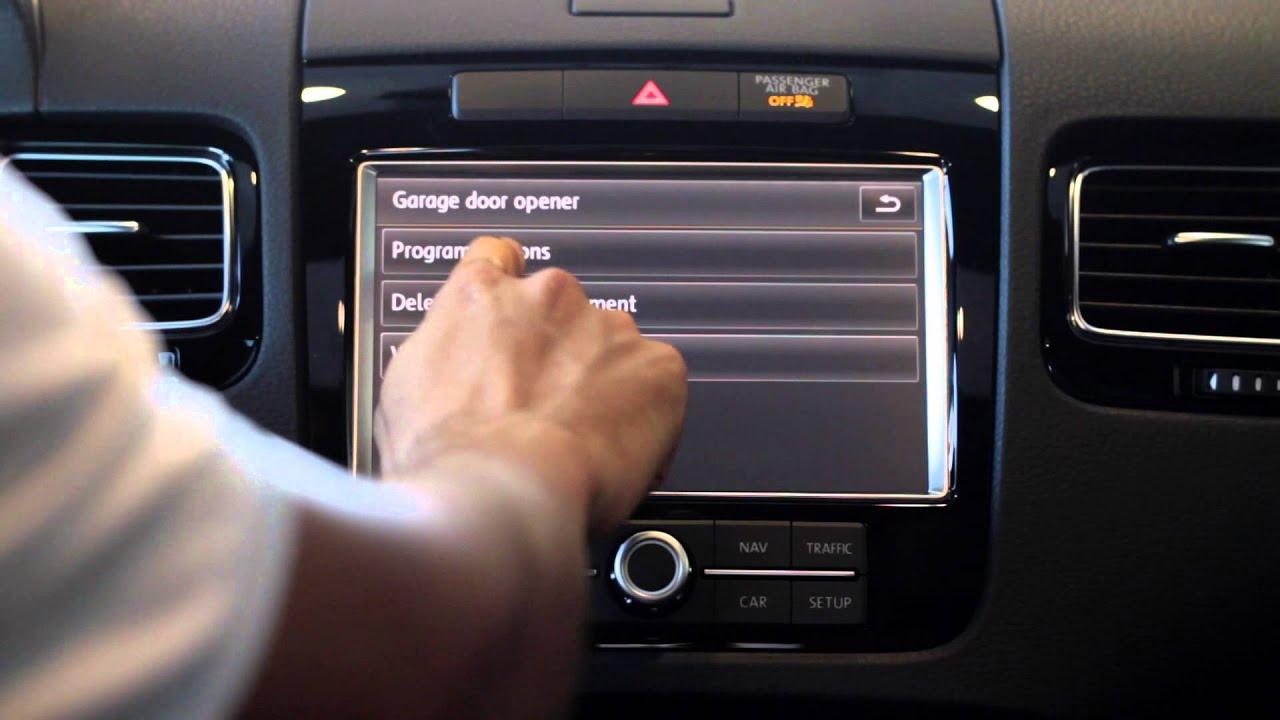 McKenna VW Cerritos Touareg  Programing Your Garage Door Opener  YouTube