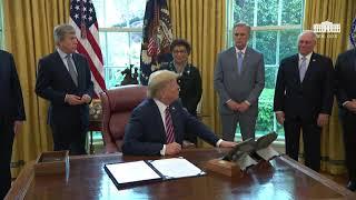 Remarks: Donald Trump Signs Coronavirus Stimulus Bill at The White House - April 24, 2020