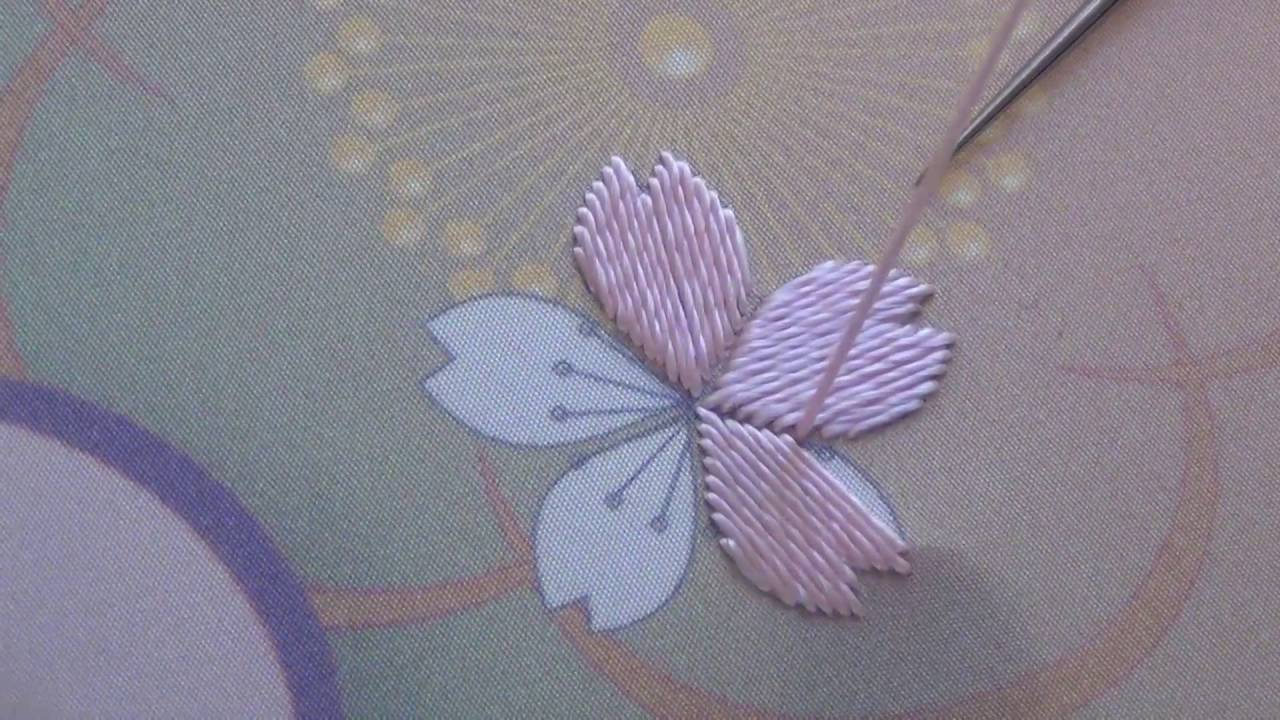 Japanese Embroidery Cherry Blossom Sakura